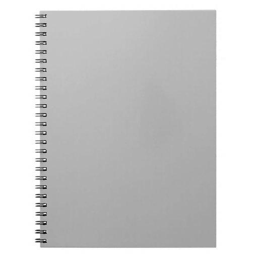 Color sólido de plata libretas espirales