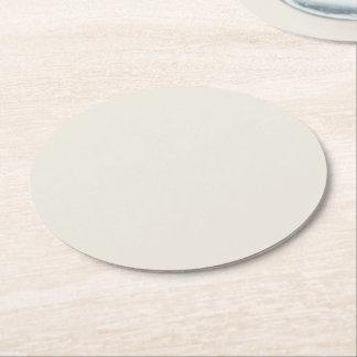 Color sólido del alabastro posavasos de cartón redondo