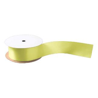Color sólido del amarillo amarillo lazo de raso