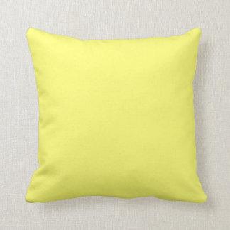 Color sólido del amarillo amarillo cojines