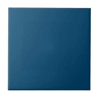 Color sólido del añil de medianoche azulejo cuadrado pequeño