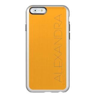 Color sólido del azafrán funda para iPhone 6 plus incipio feather shine