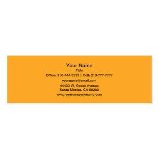 Color sólido del azafrán tarjetas de visita mini