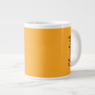 Color sólido del azafrán taza grande