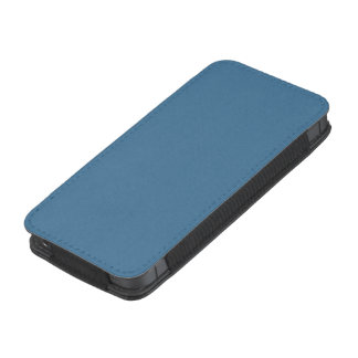 Color sólido del azul de Elektra Funda Acolchada Para iPhone
