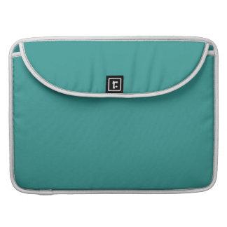 Color sólido del azul de pavo real funda para macbooks