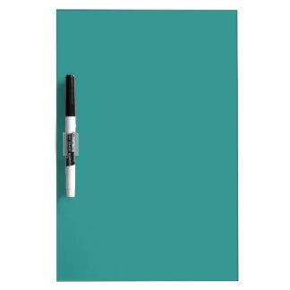 Color sólido del azul de pavo real pizarras blancas de calidad