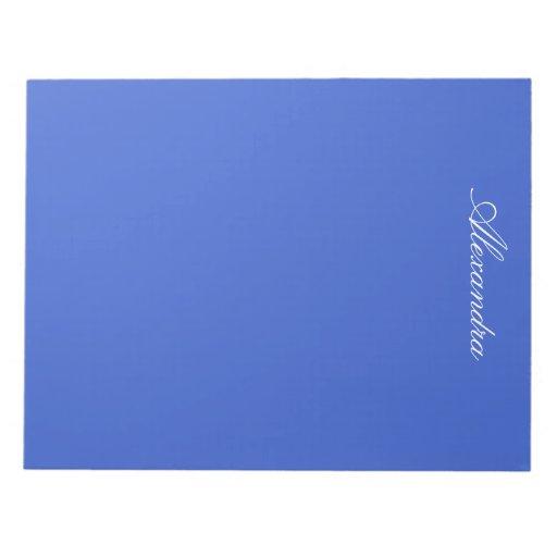 Color sólido del azul real bloc de papel