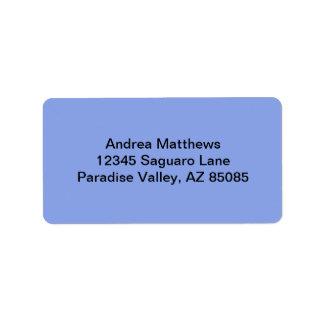 Color sólido del bígaro etiquetas de dirección