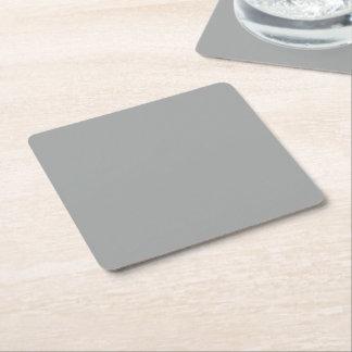 Color sólido del brezo posavasos de cartón cuadrado