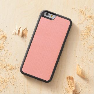 Color sólido del caramelo de algodón funda de iPhone 6 bumper arce