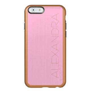Color sólido del caramelo de algodón funda para iPhone 6 plus incipio feather shine
