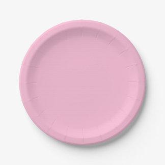 Color sólido del caramelo de algodón plato de papel 17,78 cm