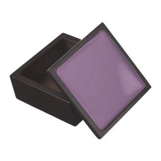 Color sólido del ciruelo cajas de recuerdo de calidad