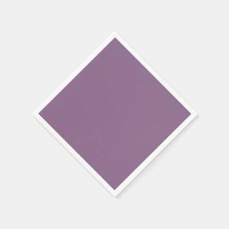 Color sólido del ciruelo servilletas desechables
