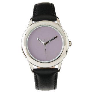 Color sólido del cuarzo color de rosa reloj