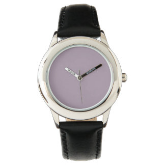 Color sólido del cuarzo color de rosa reloj de mano