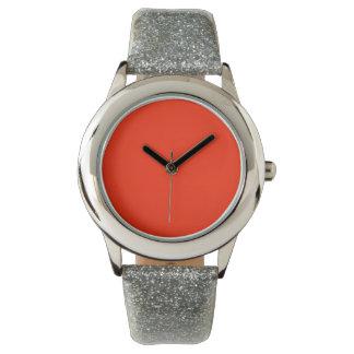 Color sólido del escarlata reloj