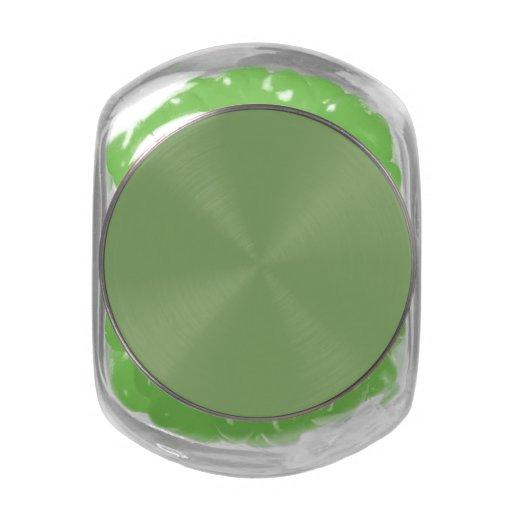 Color sólido del espárrago oscuro frascos de cristal jelly belly