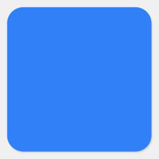 color sólido del fondo sólido azul sólido pegatinas cuadradases personalizadas