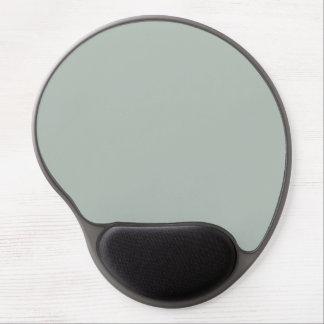 Color sólido del gris de ceniza alfombrilla de raton con gel