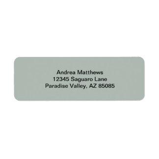 Color sólido del gris de ceniza etiqueta de remite