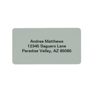Color sólido del gris de ceniza etiquetas de dirección