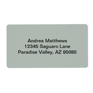 Color sólido del gris de ceniza etiquetas de envío