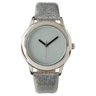 Color sólido del gris de ceniza reloj de mano