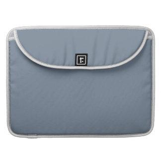 Color sólido del gris de pizarra fundas macbook pro