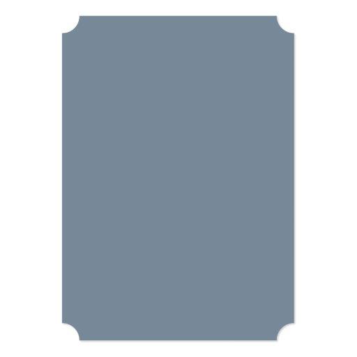 """Color sólido del gris de pizarra invitación 5"""" x 7"""""""