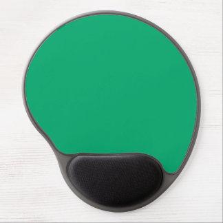 Color sólido del jade alfombrilla con gel
