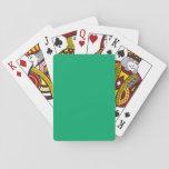 Color sólido del jade baraja de póquer