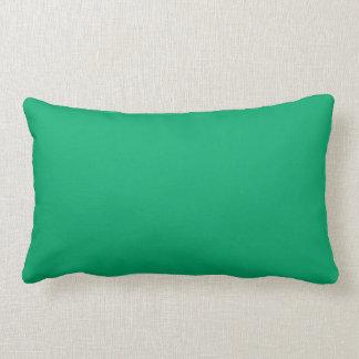 Color sólido del jade almohada