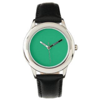 Color sólido del jade reloj de mano