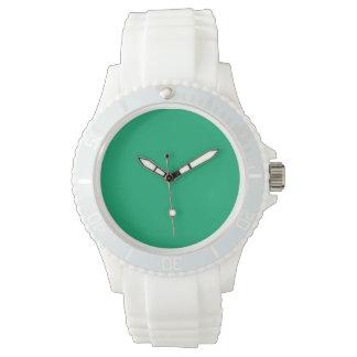 Color sólido del jade relojes