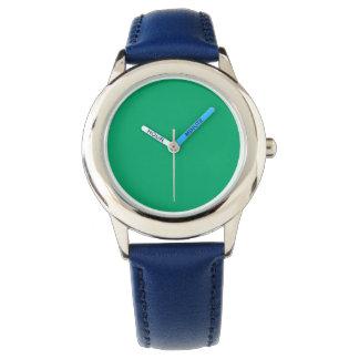 Color sólido del jade relojes de pulsera