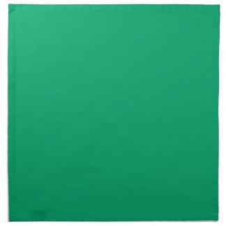 Color sólido del jade servilletas imprimidas