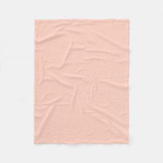 Color sólido del melocotón manta de forro polar