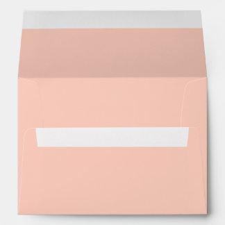 Color sólido del melocotón sobres