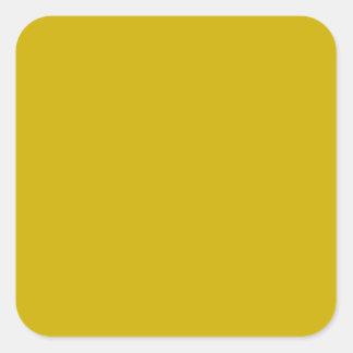 Color sólido del oro pegatina cuadrada
