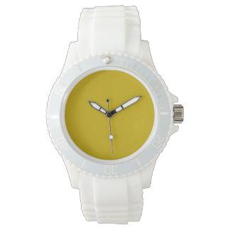 Color sólido del oro relojes