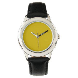 Color sólido del oro relojes de mano