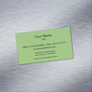 Color sólido del pistacho tarjetas de visita magnéticas (paquete de 25)