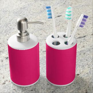 Color sólido del rosa impactante vasos para cepillos de dientes