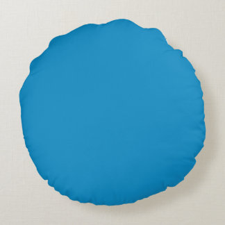 Color sólido del Topaz azul Cojín Redondo