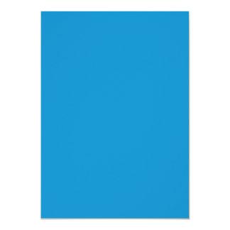 """Color sólido del Topaz azul Invitación 5"""" X 7"""""""