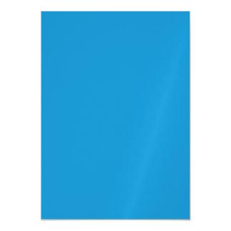 Color sólido del Topaz azul Invitaciones Magnéticas