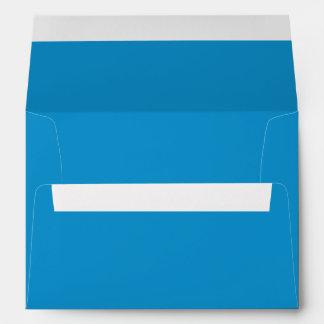 Color sólido del Topaz azul Sobres