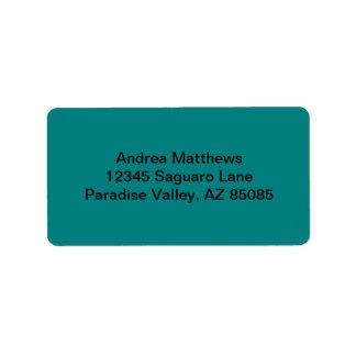 Color sólido del trullo etiqueta de dirección